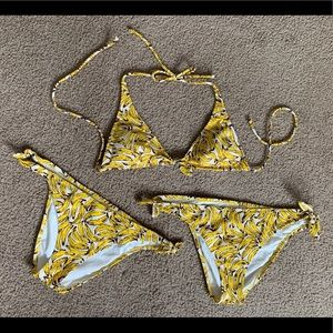 Victoria's Secret Banana Bikini 🍌 Med and Large
